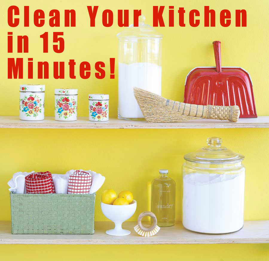 Kitchen Cleaning: How To Clean Your Kitchen In 15 Minutes!
