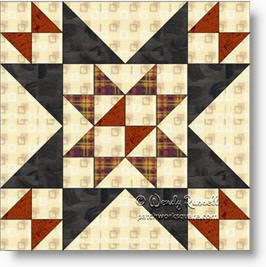 'Coronation' quilt block image © W. Russell, patchworksquare.com