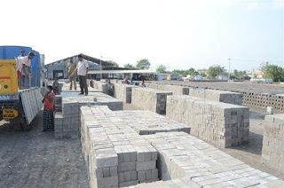 Transporting Fly Ash Bricks