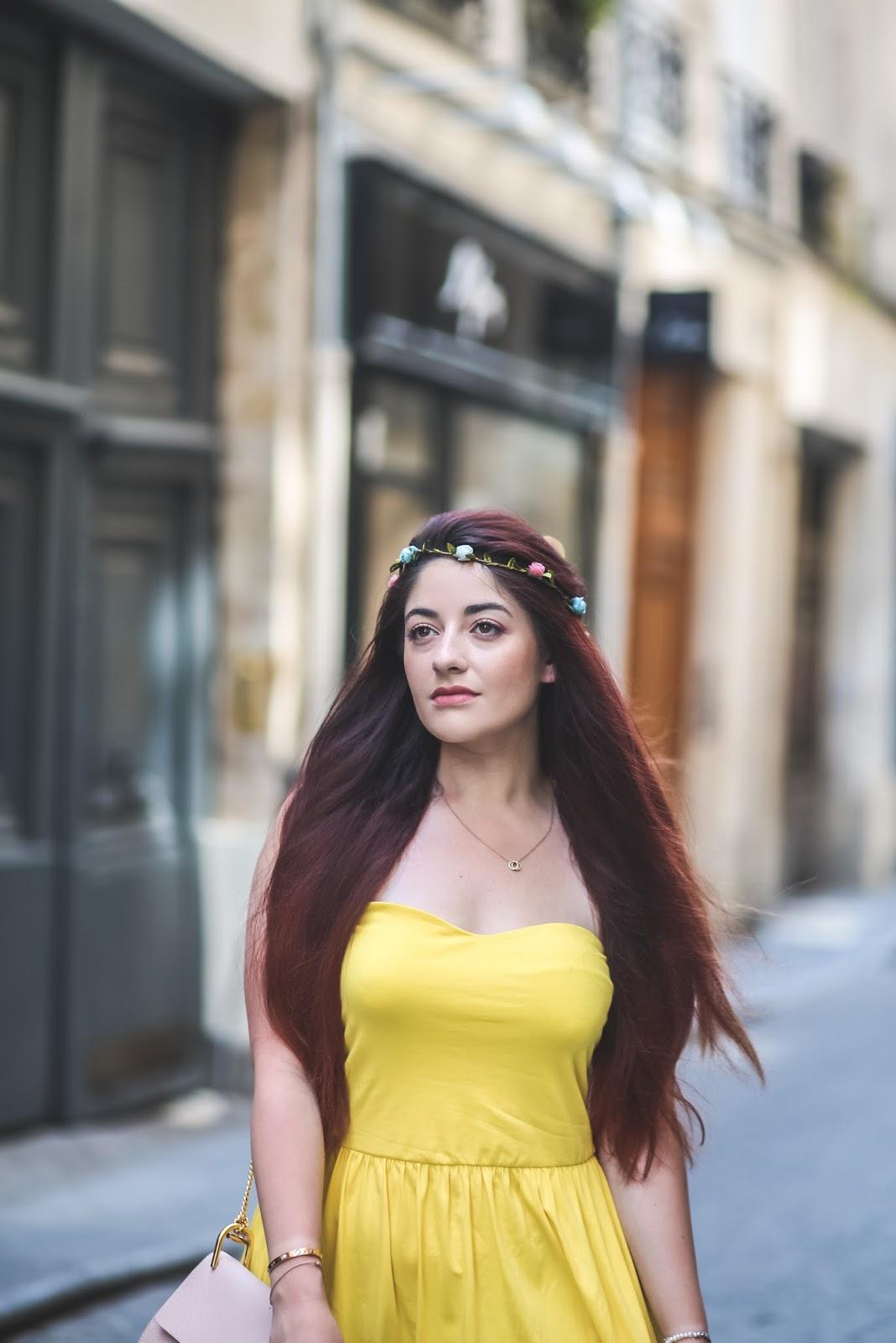 robe jaune poussin blog mode