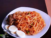 Jollof Spaghetti Nigerian Spaghetti Jollof with vegetables , spaghetti recipes, nigerian food tv, nigerian food recipes , pasta recipes