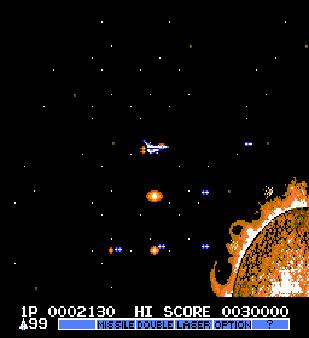 【FC】宇宙巡航機2(沙羅曼蛇、Gaiares 2)無敵版+原版+金手指+秘技!