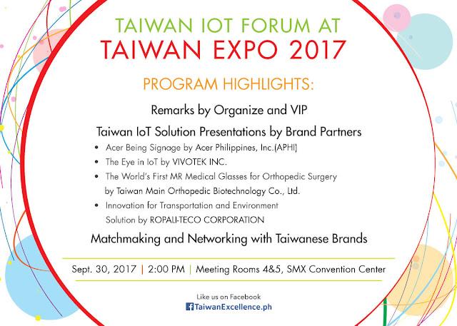Taiwan IoT Forum at Taiwan Expo 2017