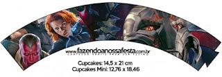 Wrappers para cupcakes de Vengadores