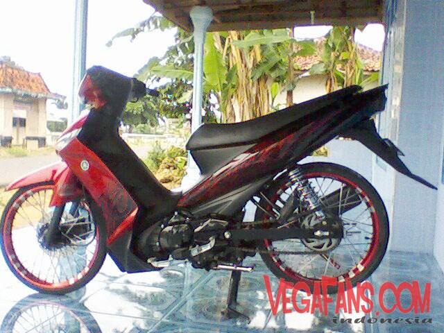 modif vega zr sederhana warna merah velg DBS