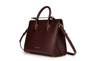 Strathberry tote burgundy