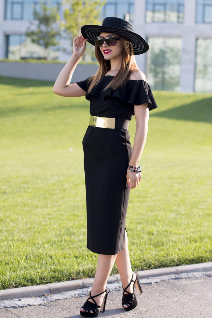 rochie neagra woman fashion