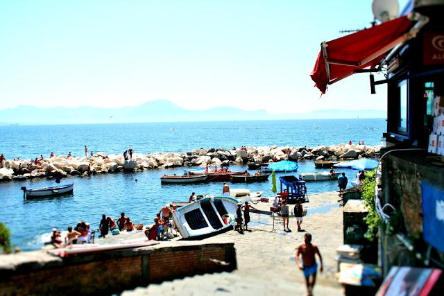porto, mare, molo, bagnanti, barche, spiaggia, acqua, cielo