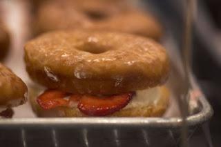 vegan junk food fruit donut