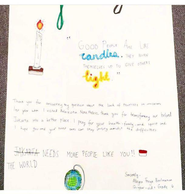 Ahok Membalas Surat Allegra Freya, Gadis 12 Tahun ini Bikin Netizen Meneteskan Air Mata, Baper!