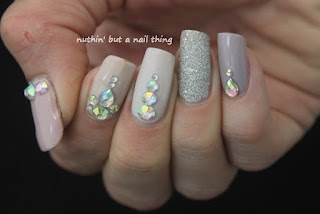 Easy blingy nail art