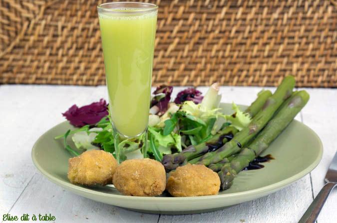 recette Croquettes d'asperges et saumon