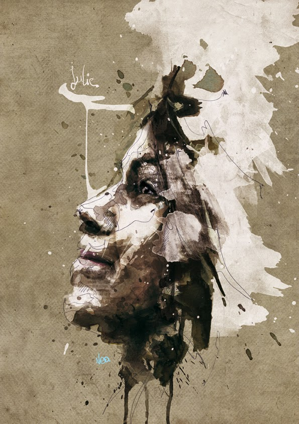 13-Julie-Florian-Nicolle-neo-Portrait-Paintings-focused-on-Expressions-www-designstack-co
