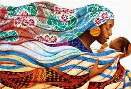 Mãe Amorosa - Keith Mallett e suas pinturas cheias de charme