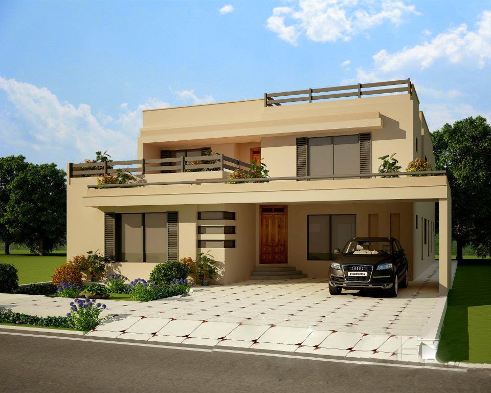 Contemporary homes designs exterior views for Home house plans