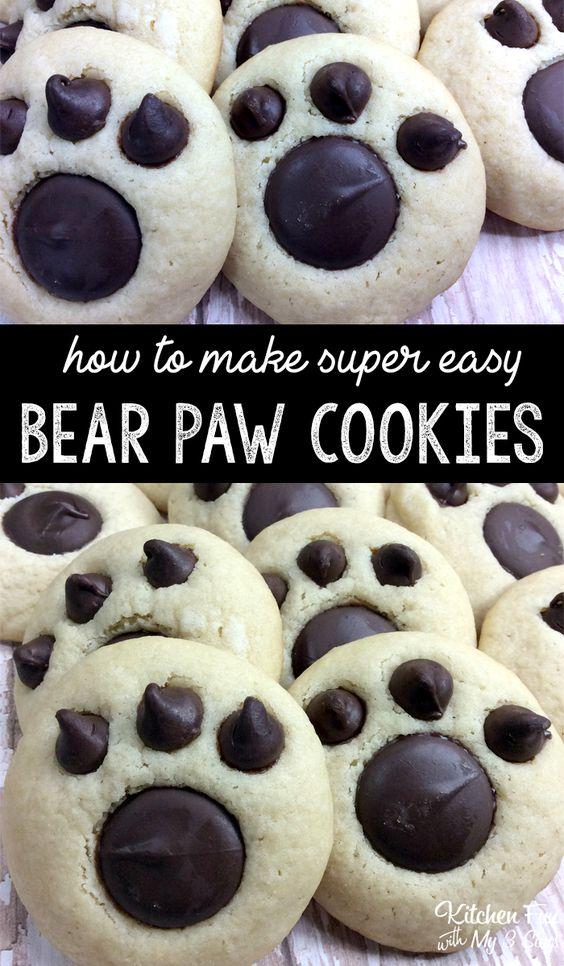 Bear Paw Cookies #DESSERT #VEGETARIAN #COOKIES