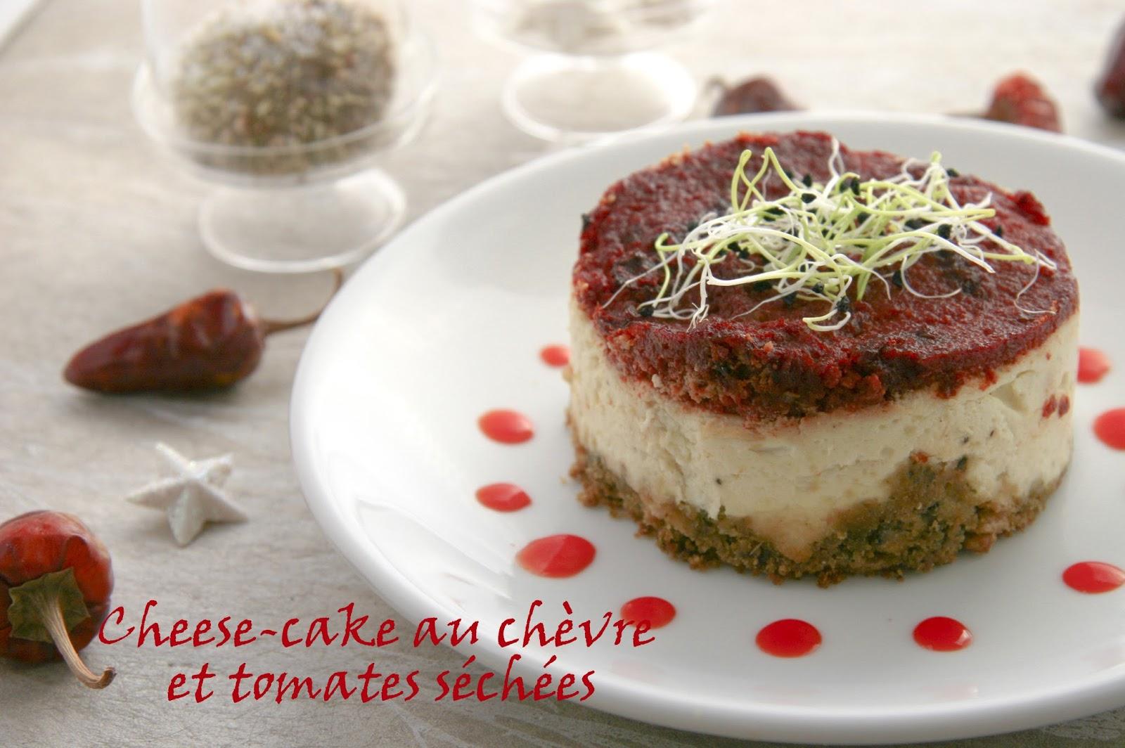 Cheese Cake Au Chevre Frais Et Tomates Sechees