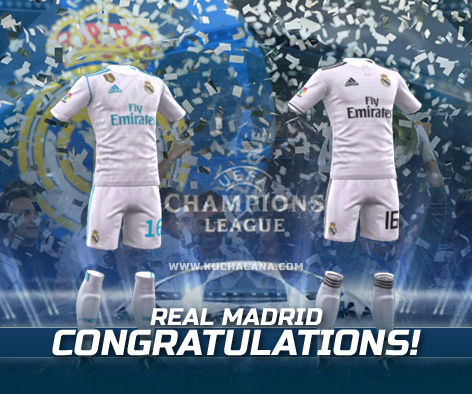 sale retailer 2fd22 74077 Real Madrid 2018/19 Kit - Dream League Soccer Kits - Kuchalana