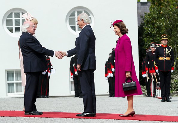 President Michael D Higgins and his wife Sabina Coyne. Queen Silvia and King Carl Gustaf visited the Croke Park GAA Stadium