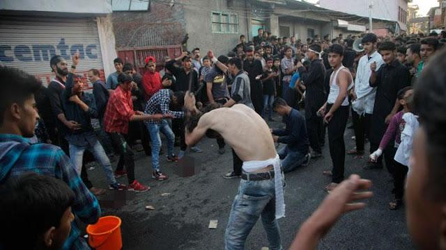 Ini Kumpulan Foto Mengerikan Syiah di India Melukai Diri di Hari Asyura