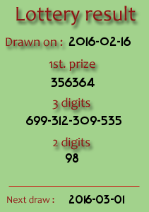 thai lottery result 16 02 2016