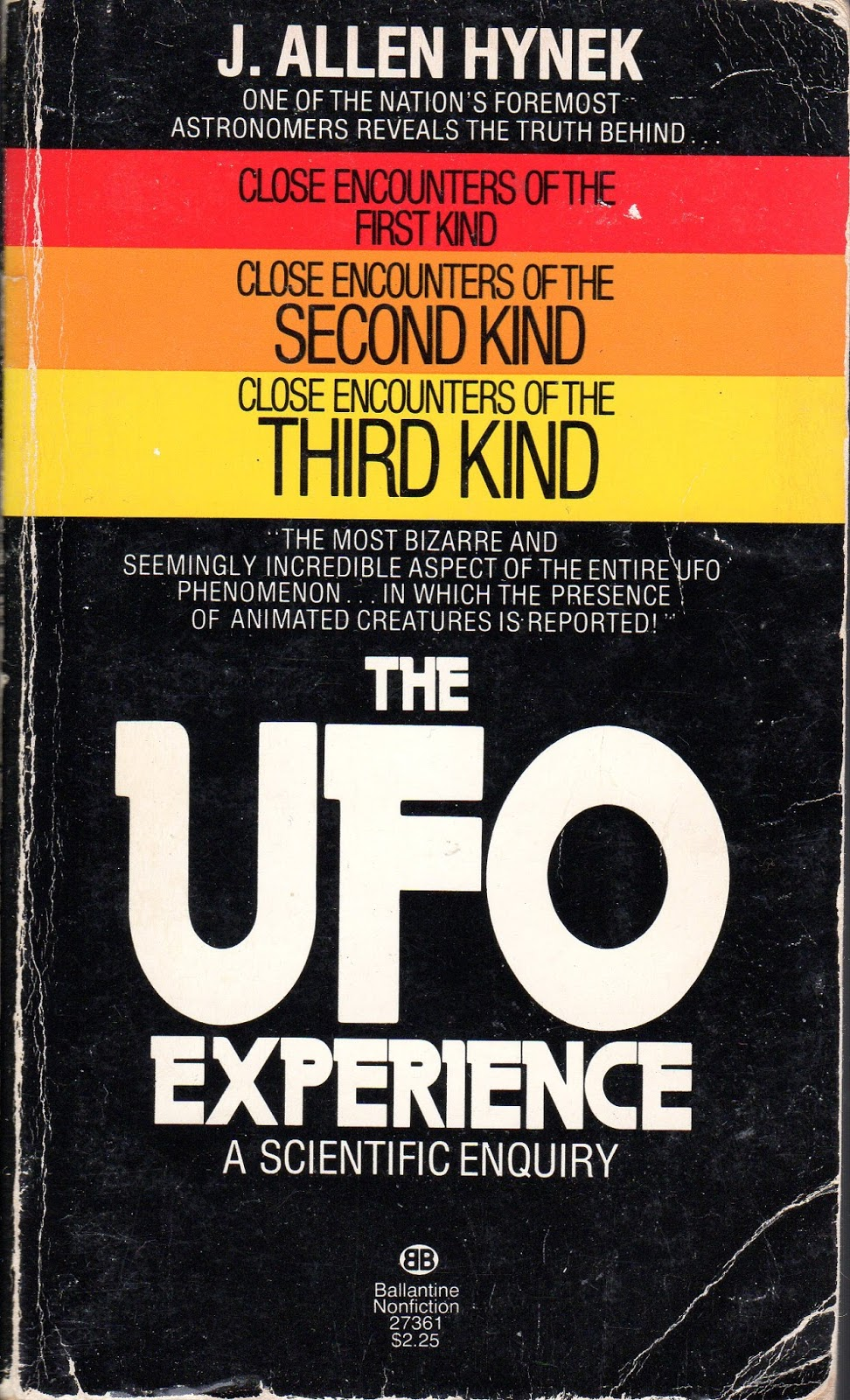 the three categories of ufo encounters by allen hynek