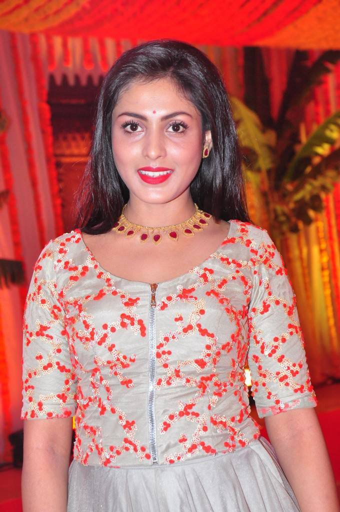 Madhu Shalini Stills In Red Top At Wedding Party