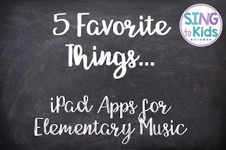 5 Favorite Things: iPad Apps for Elementary Music+Garage Band+Tune Train+Rhythm Cat+Carnival of the Animals+Monkey Drums
