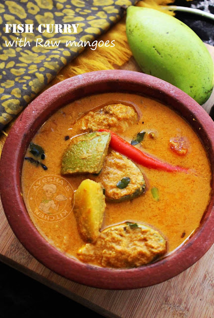 kerala style raw mango fish curry pachamanga meen curry ayeshas kitchen fish recipes meen curry fish curry pachamanga curry raw mango curry