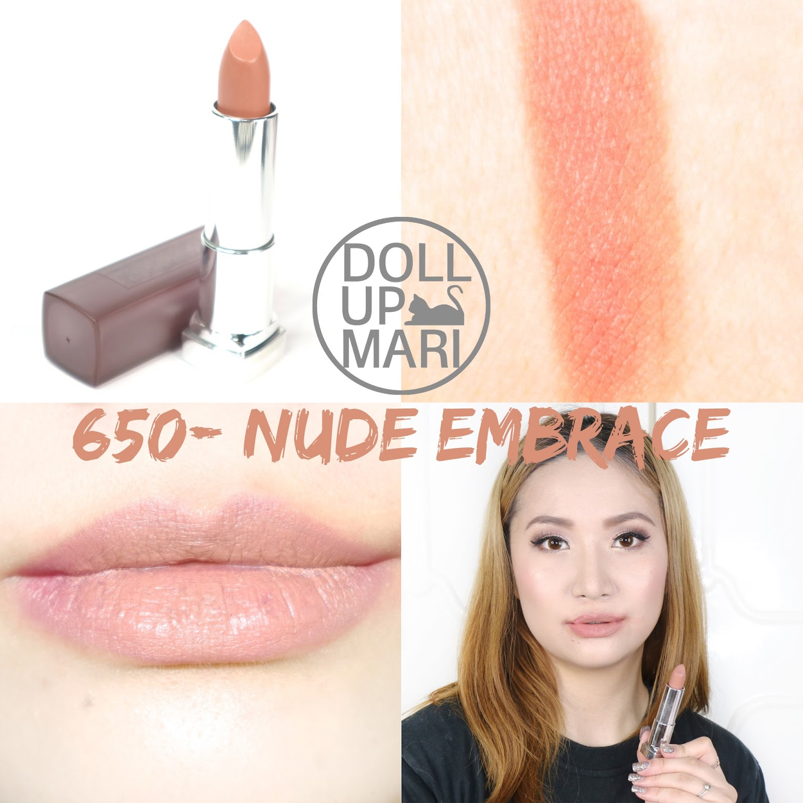 Maybelline Color Sensational Creamy Matte Lipstick, Nude