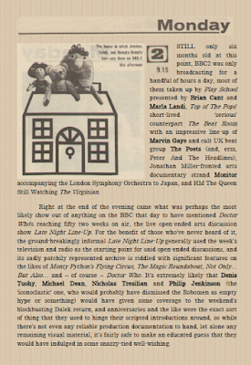 Feature on Radio Times, Doctor Who and Play School from The Camberwick Green Procrastination Society by Tim Worthington