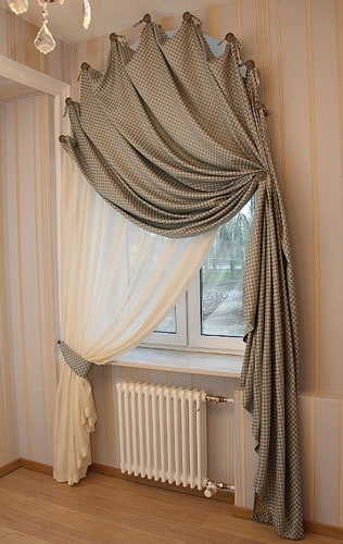 simple modern arch window curtain ideas