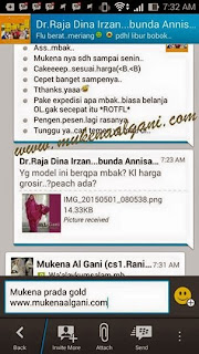 11204995_1451792161780008_5931423127589456301_n Dokter barbie Tika cantik wearing Mukena Najwa super duper Best Seller 😍