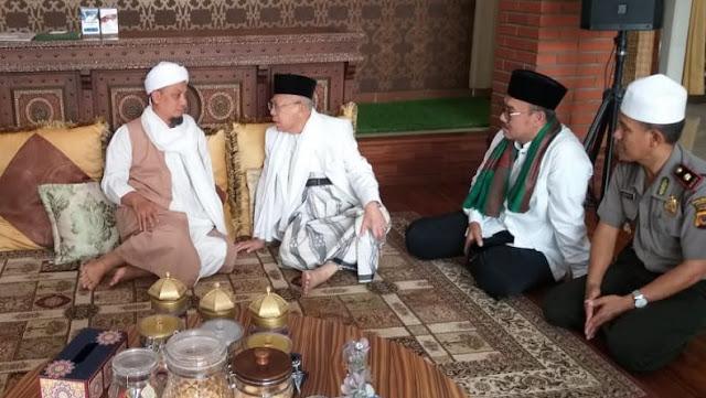 Khotbah Jumat di Masjid Az Zikra, Ma'ruf Amin Minta Doa dan Dukungan