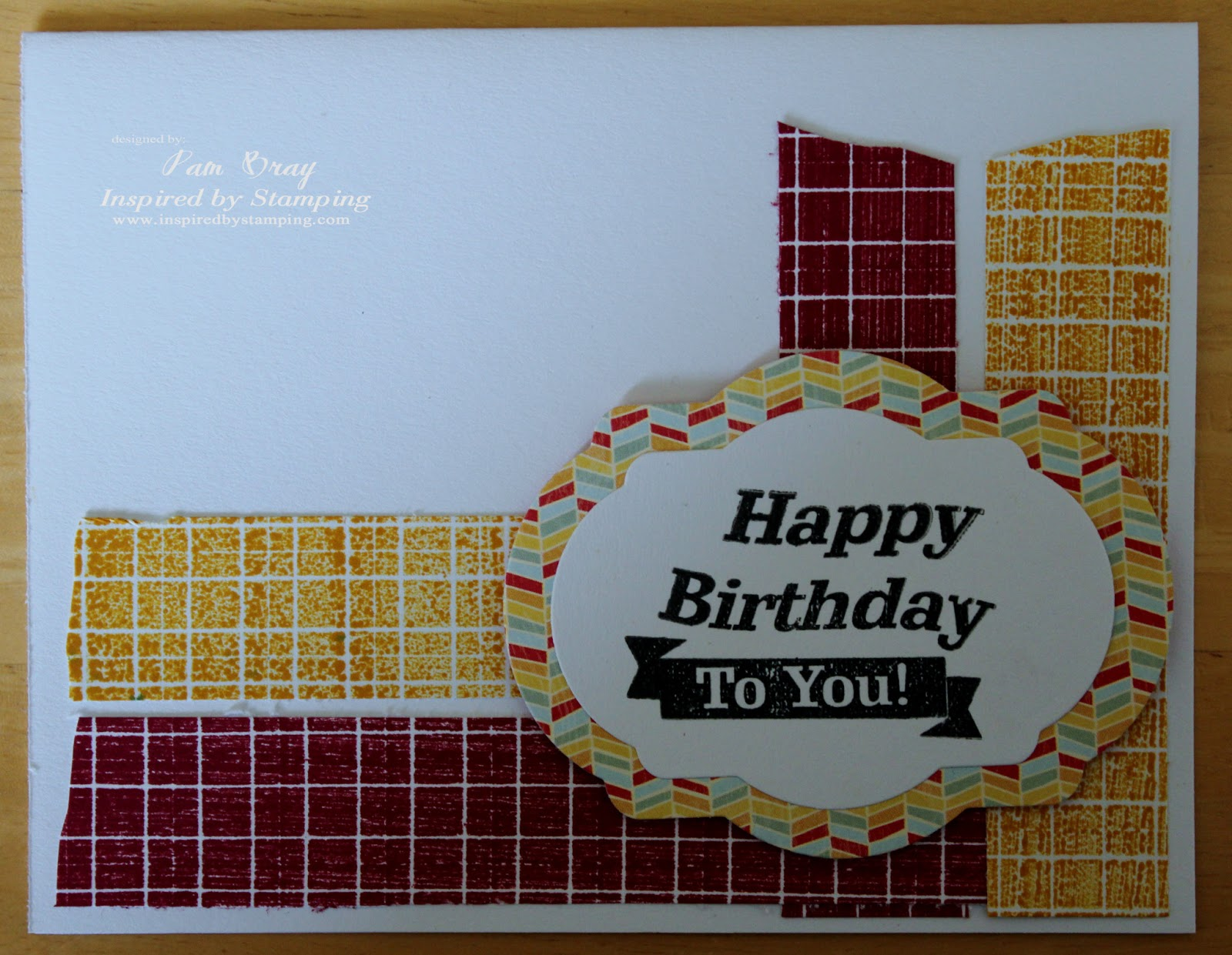 Scrapbook Flair: Pam Bray Designs: Inspired by Stamping ...