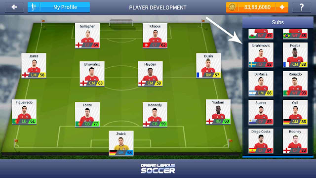 cara cheat pemain dream league soccer 2017