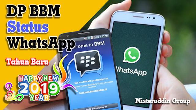 DP BBM dan Status WhatsApp Happy New Year 2019