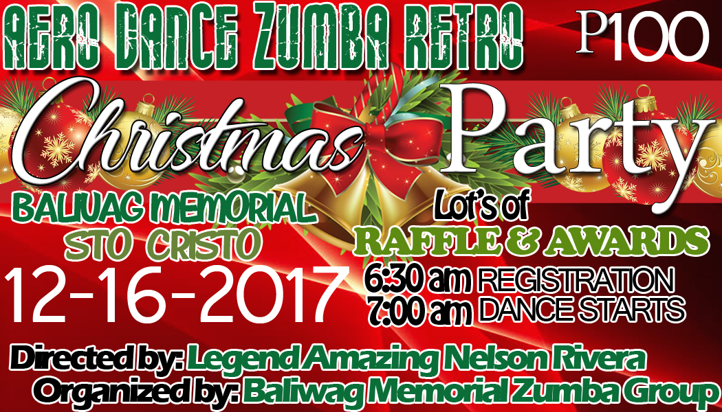Zumba Christmas Party Images.Birthday With Zumba Tarpaulin And Ticket Design Template