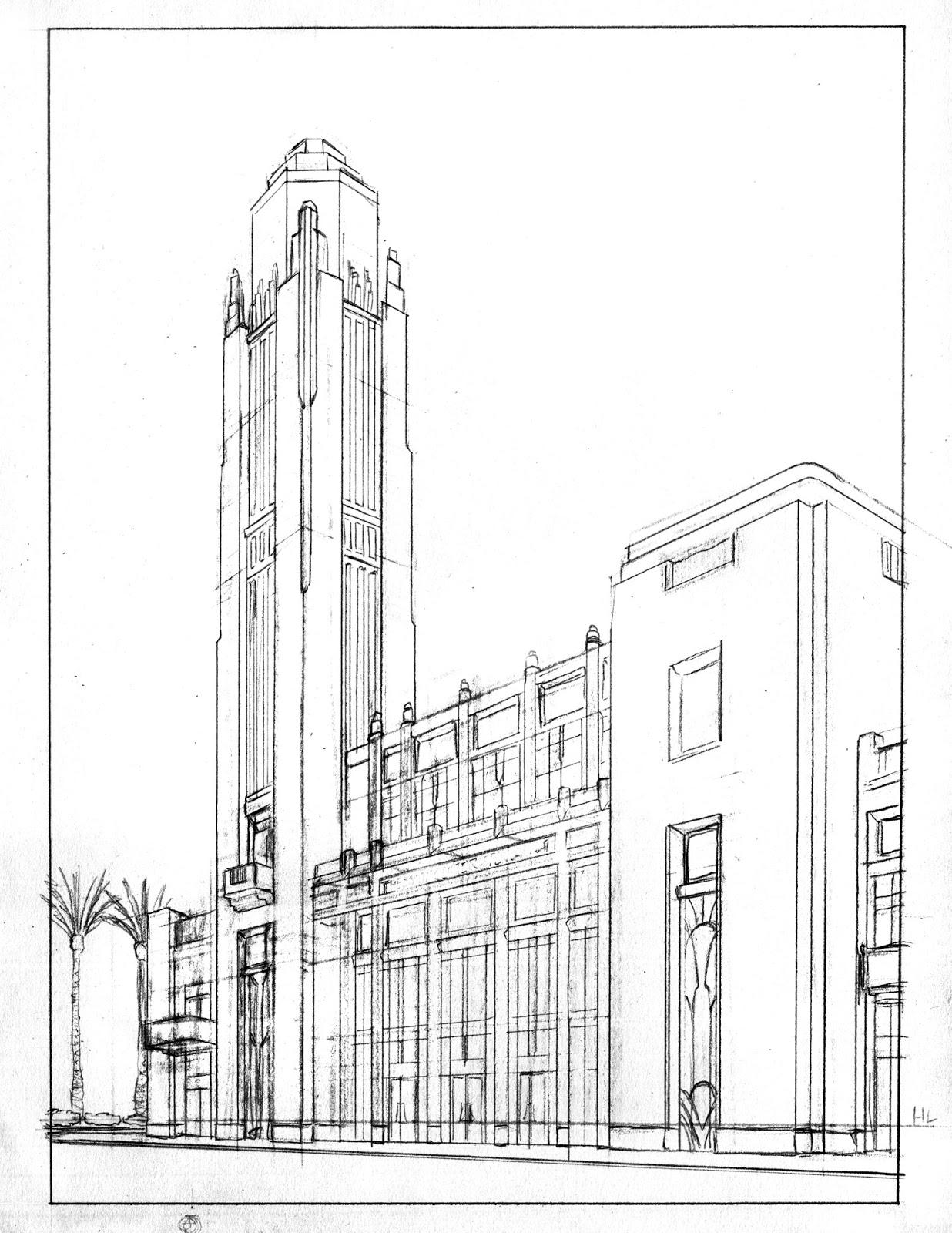 Work By Cazel Seqa325 Assignment 1 2pt Perspective Buildings Lva Main Building Amp The Las