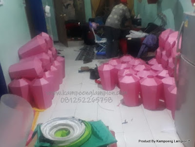 progress lampion teng tengan, lampion dian kurung