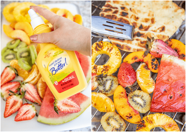 grilling fruit with butter spray