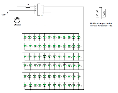 Running 70 LEDs by 1.5v AA battery