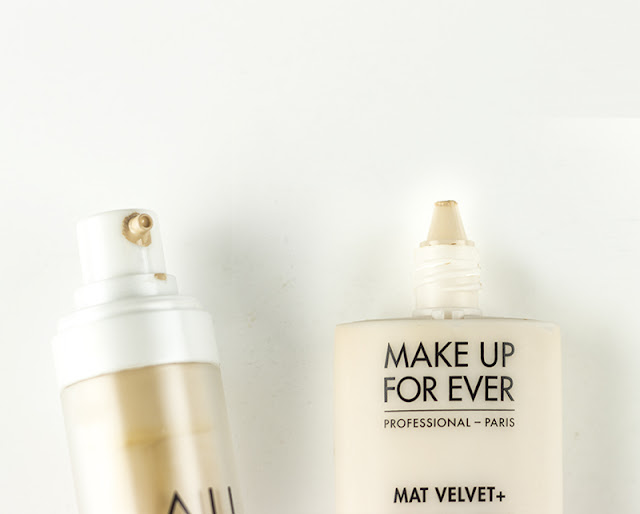 Aritaum All Day Lasting Foundation vs. Make Up For Ever Mat Velvet+