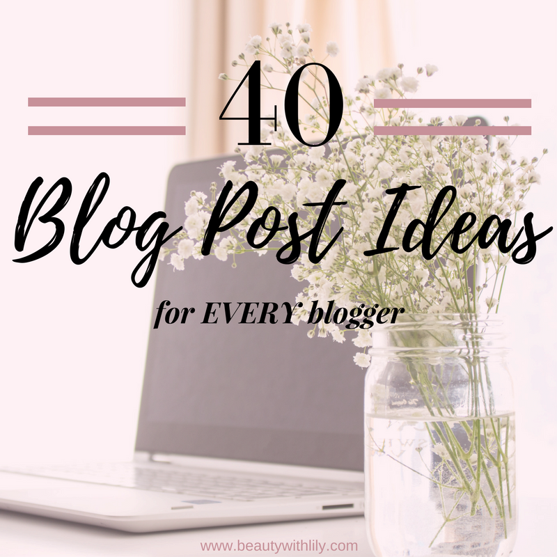 Blog Post Ideas for Every Blogger | When You're Stuck in a Rut