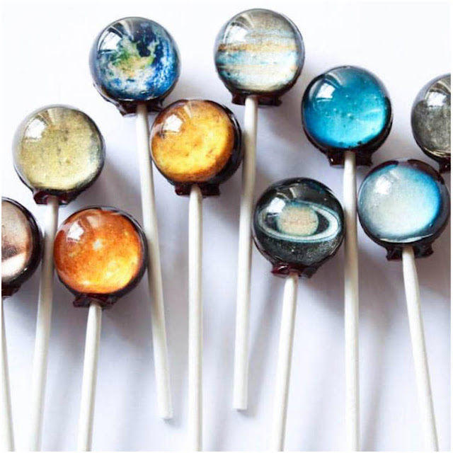 Vintage Confections' planet lollipops