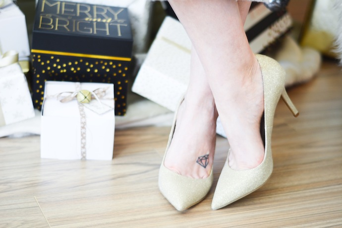 Le Chateau glitter heels Vancouver blogger