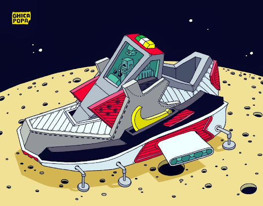 Galactic sneakers by Ghica Popa