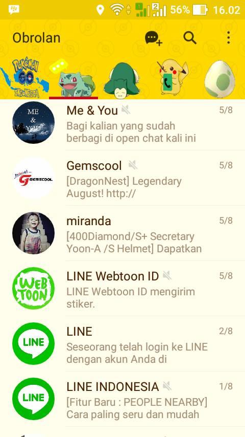 Download Tema LINE Pokemon Go LINE Official 6.5.1 untuk