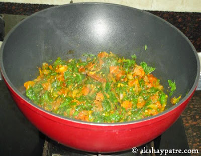 palak mixed  for palak pulao recipe
