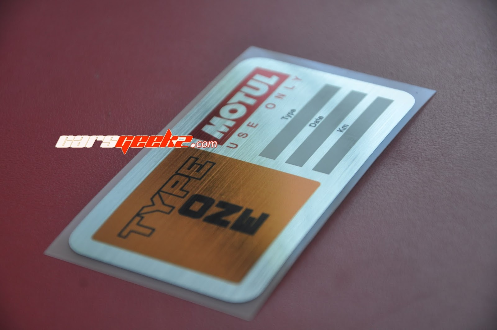 Type One Motul Kilometer Counter Chrome Brush Metal Sticker